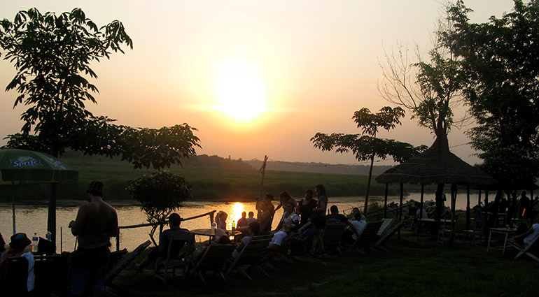 Sunset view from Rapti River