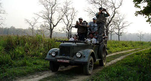 Jeep Safari inside Chitwan National Park